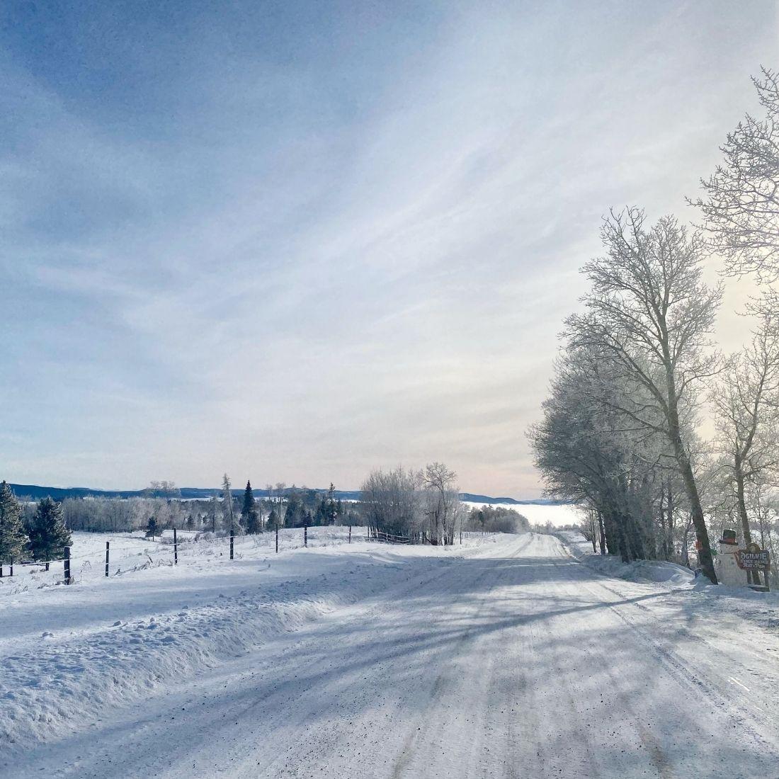 Long Lake Road in Knutsford, BC Canada